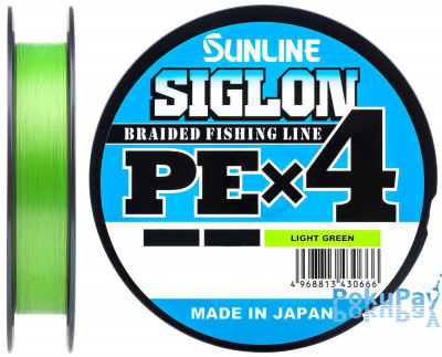 Шнур Sunline Siglon PE X4 Light Green 150m #1.0/0.171mm 16lb/7.7kg
