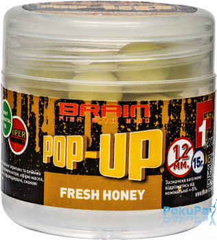 Бойлы Brain Pop-Up F1 Fresh Honey (мёд с мятой) 12mm 15g (1858.04.35)