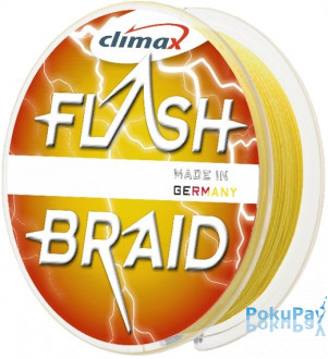 Шнур Climax Flash Braid Yellow 100m 0.20mm 14.5kg (9262-10100-020)