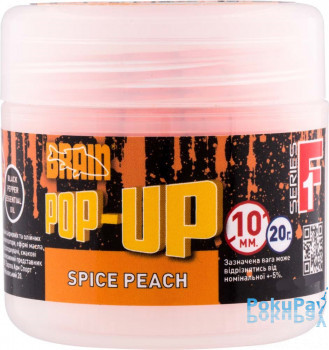 Brain Pop-Up F1 Spice Peach (персик/специи) 10mm 20g (1858.02.10)