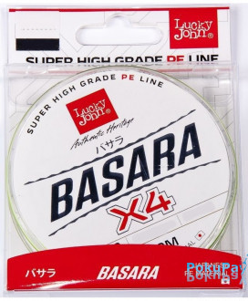 Шнур Lucky John Basara Light Green Х4 125m #0.8/0.132mm 6.9kg (LJ4102-013)